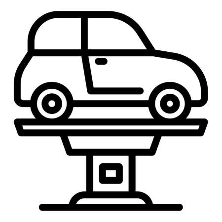 Vehicle elevator icon, outline style