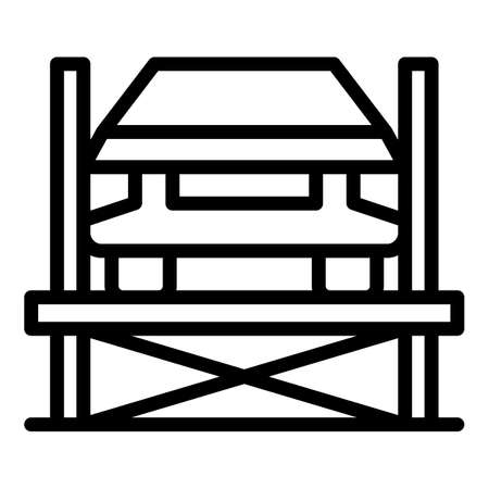 Car repair service icon, outline style