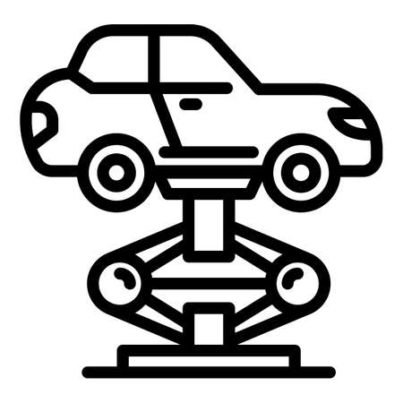 Car elevator icon, outline style