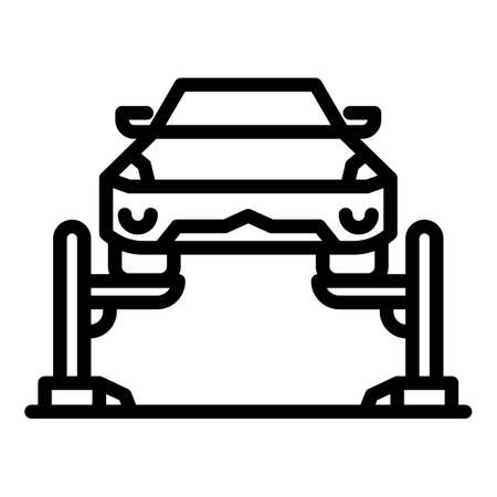 Mechanic car lift icon, outline style