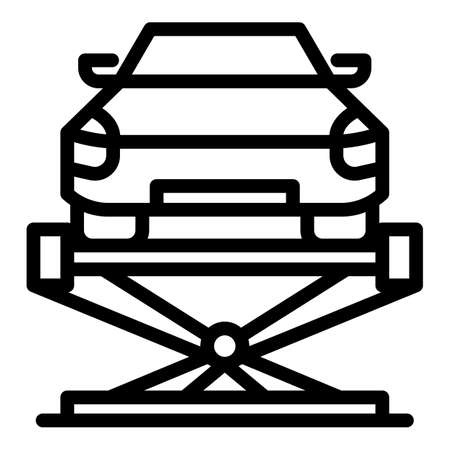 Car lift fixed icon, outline style 矢量图像