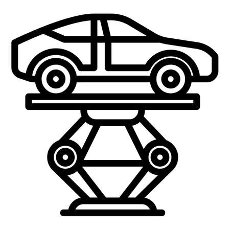 Maintenance car lift icon, outline style Banque d'images - 157798277