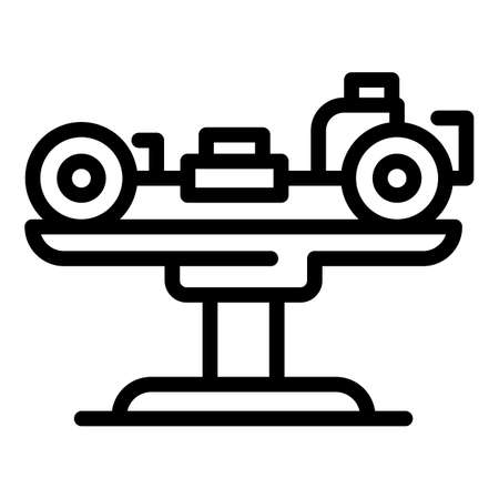 Elevator car mechanism icon, outline style 矢量图像