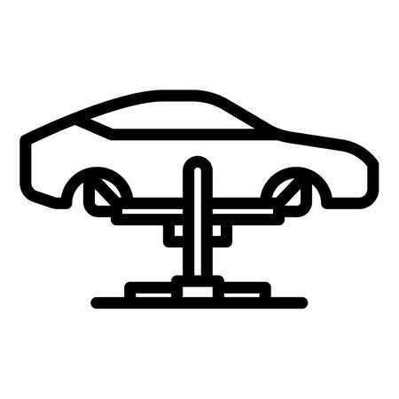 Diagnostic car lift icon, outline style Ilustração