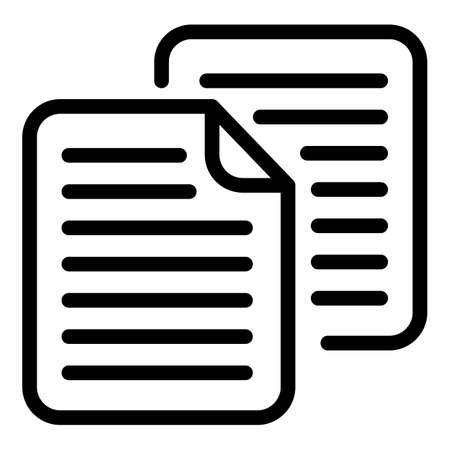 Papers scenario icon, outline style