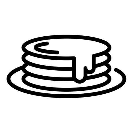 Honey pancakes icon, outline style