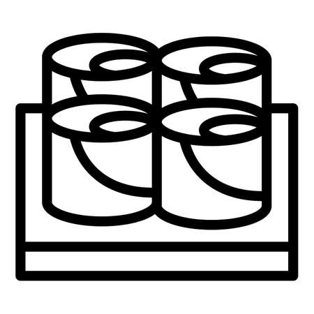 Sushi rolls icon, outline style