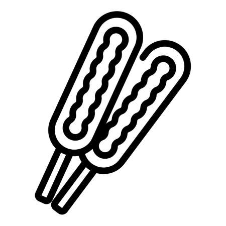Candies icon, outline style