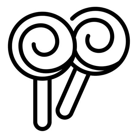 Candy lolly icon, outline style