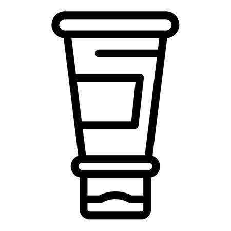 Foot cream icon, outline style