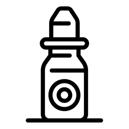 Eye drops icon, outline style