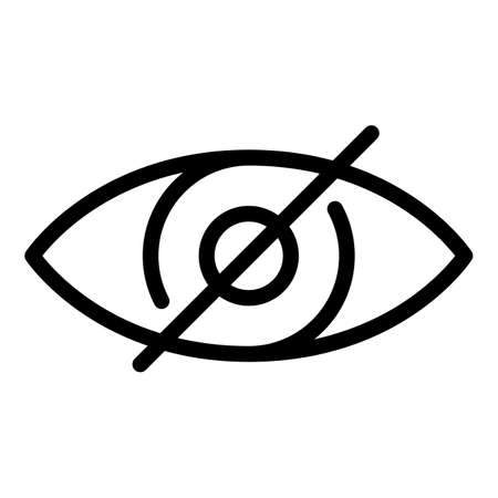 No vision icon, outline style