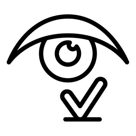 Good vision icon, outline style 矢量图像
