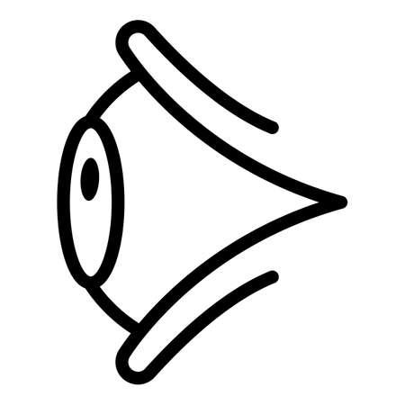 Open eye icon, outline style