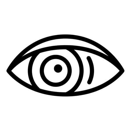 Human eye icon, outline style