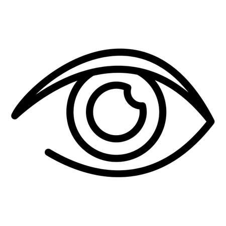 Woman eye icon, outline style Vettoriali