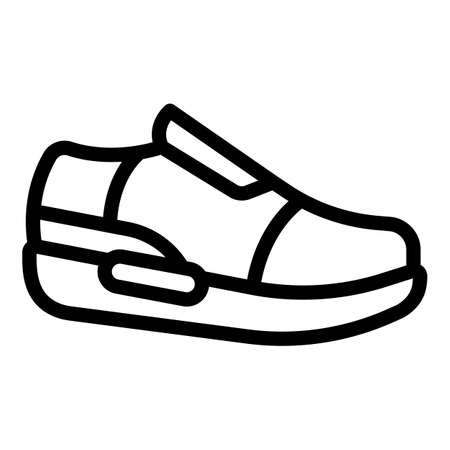 Leather sneakers icon, outline style
