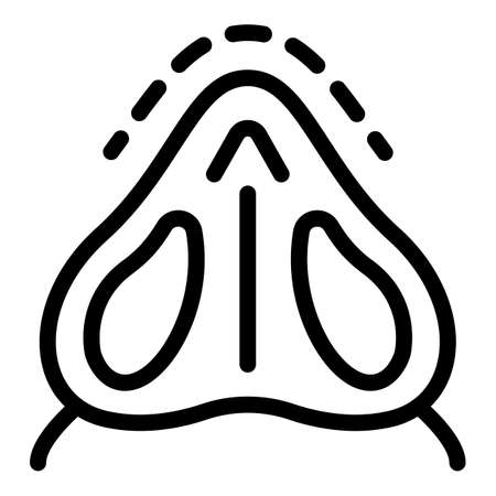 Nose internal surgery icon, outline style