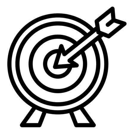 Arch target icon, outline style