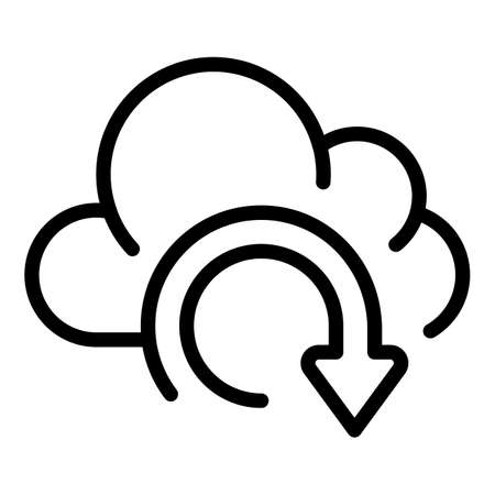 Recovery data cloud icon, outline style