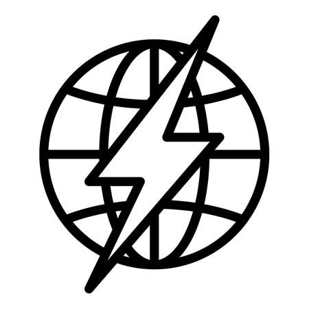 Fast planet warming icon, outline style
