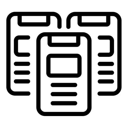 Adaptation smartphone icon, outline style