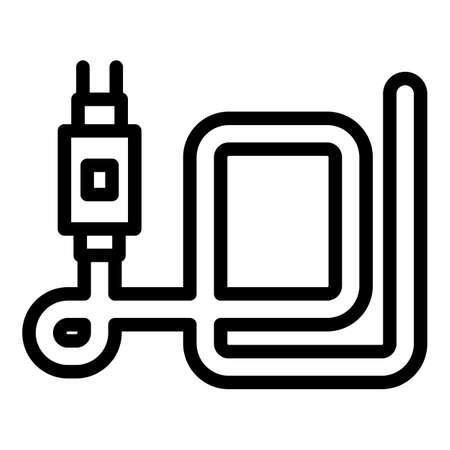 Led strip plug icon, outline style Vector Illustration
