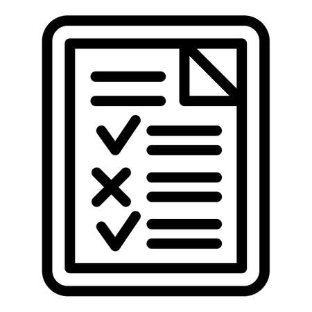 College exam test icon, outline style