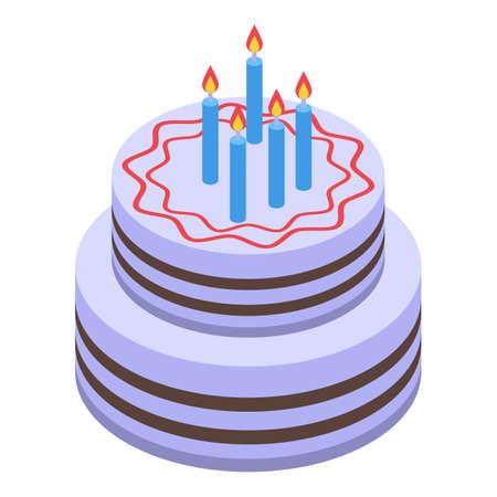 Surprise cake icon, isometric style Illusztráció