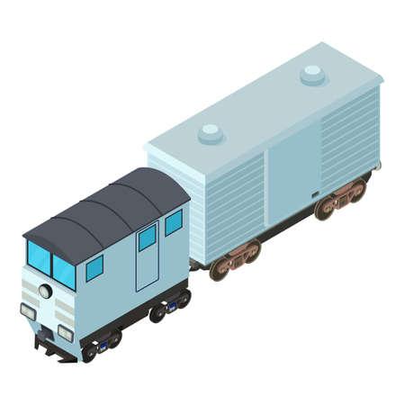 Refrigerator train icon, isometric style Stock Illustratie