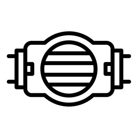 Motor pump irrigation icon, outline style