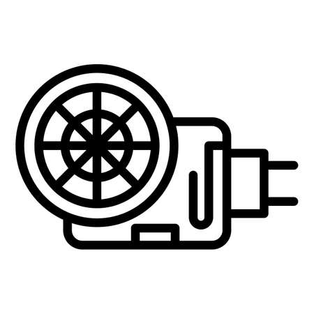 Sewage pump icon, outline style 向量圖像