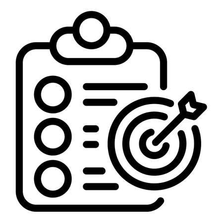 Assignment target icon, outline style