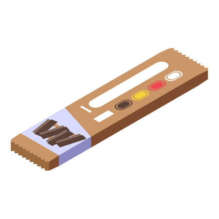 Fitness snack bar icon, isometric style