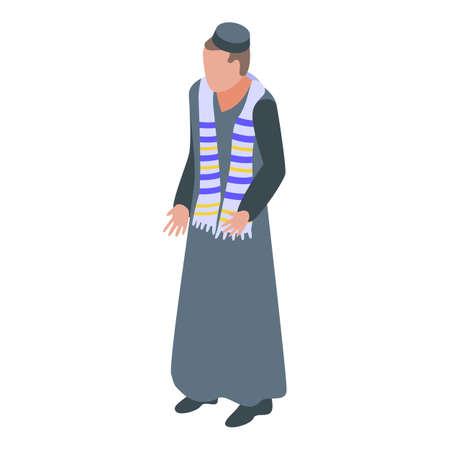 Modern priest icon, isometric style