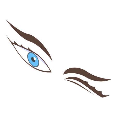 Wink eyes icon, isometric style