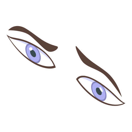 Question eyes icon, isometric style