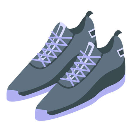 Fashion sneakers icon, isometric style 向量圖像