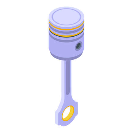 Car motor piston icon, isometric style