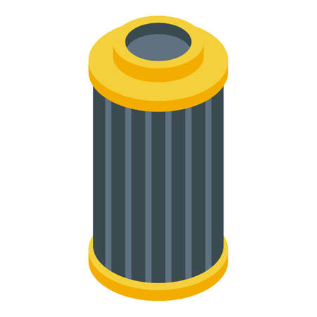 Car air filter icon, isometric style