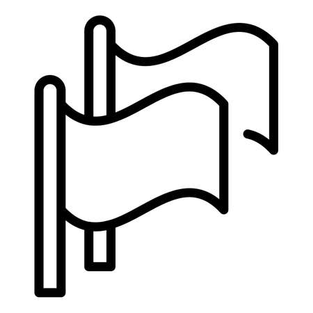 Flags agitation icon, outline style