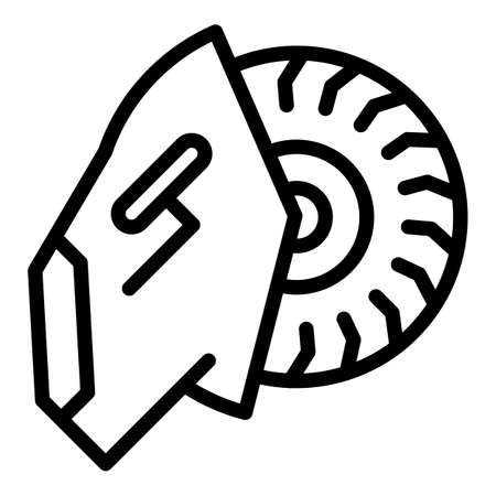 Electric saw icon, outline style