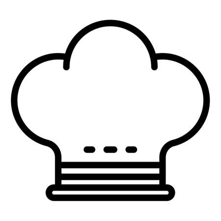 Restaurant cook hat icon, outline style