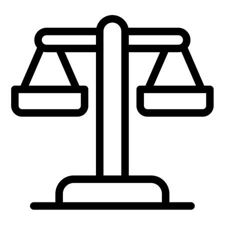 Bank scale icon, outline style
