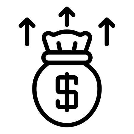 Raise profit icon, outline style