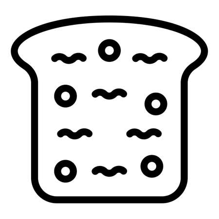 Slice bread icon, outline style
