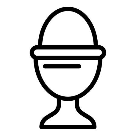 Hard boiled egg icon, outline style