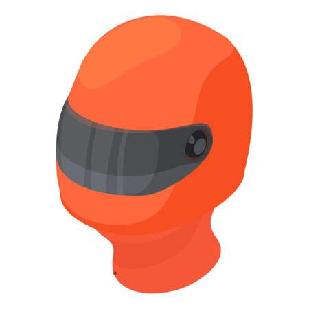 Karting helmet icon. Isometric illustration of karting helmet vector icon for web Vektoros illusztráció