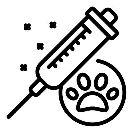 Cat vaccine icon. Outline cat vaccine vector icon for web design isolated on white background