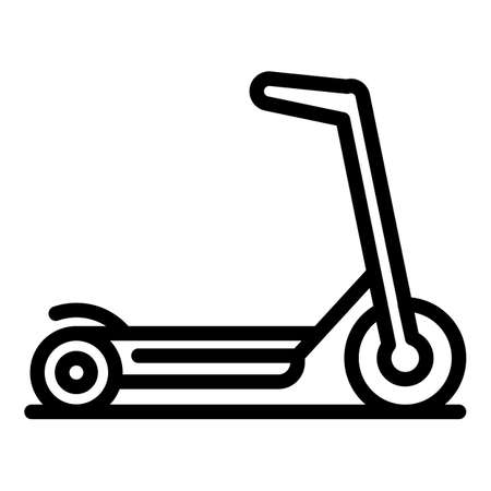 Electric scooter icon. Outline electric scooter vector icon for web design isolated on white background